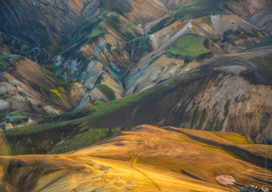 Views from the Suðurnámur mountain ridge and Vondugil in the Icelandic Highlands. Fuji GFX50s and 32-64mm lens