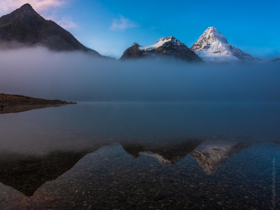 Mount Assiniboine in the Mist