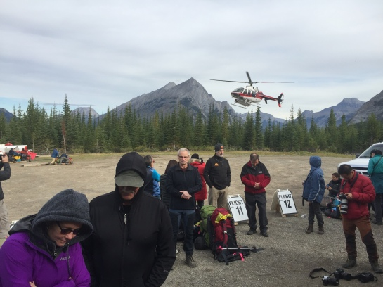Helicopter Pad Heading to Mount Assiniboine