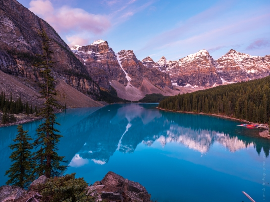 Lake Moraine from the Rockpile at Dusk gfx50s