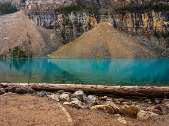 Lake Moraine Angles Reflected