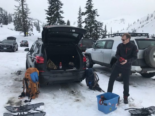 Getting Ready in the Heather Meadows Parking Lot