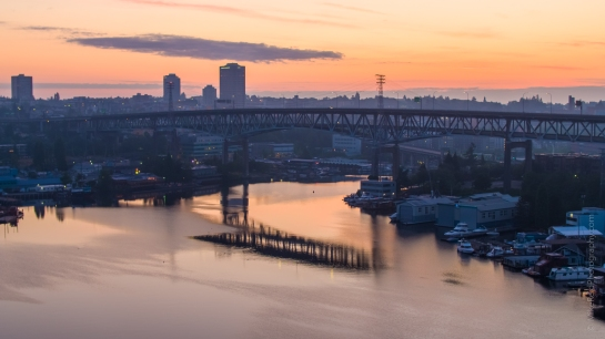 Over Seattle Aerial Photography Sunrise Over The Freeway Bridge Inspire 2 X5S
