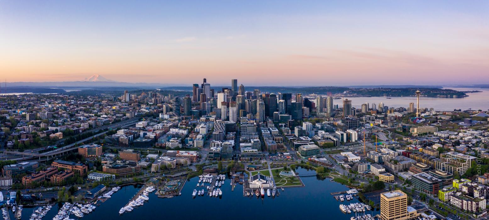 Over Lake Union Seattle Panorama Mavic Pro 2