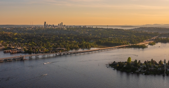 Over Seattle Aerial Photography Lake Washington GFX50s